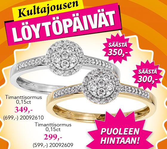 Kultajousen Löytöpäivät ovat täällä! Tutustu huikeisiin timantti tajouksiin! >>