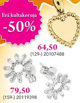 Nyt upea erä kultakoruja puoleen hintaan! Tutustu ja osta! >>