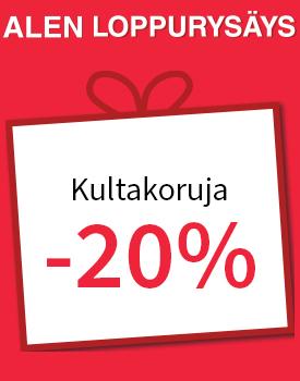 Paljon kultakoruja -20 %! Tutustu ja osta >>