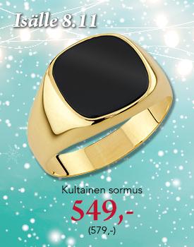 Kultainen kantasormus lahjaksi isälle 549,- (579,-) Osta tästä >
