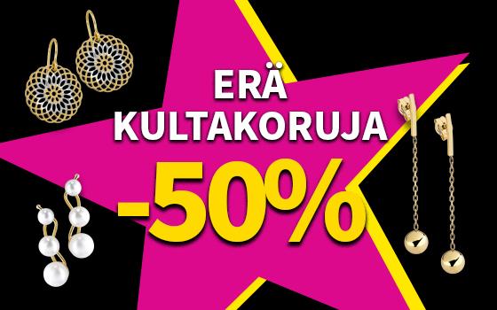 Erä kultakoruja -50 %! Tutustu ja osta! >>