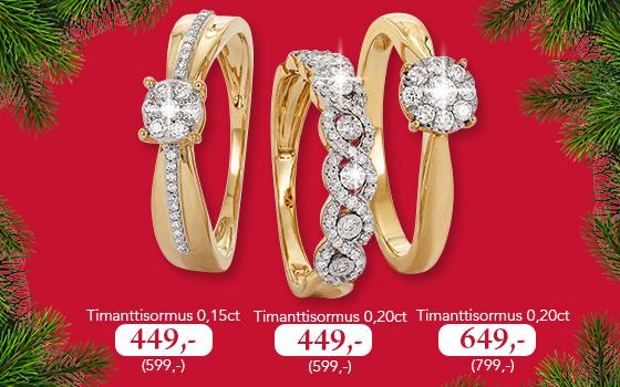 Upeita timanttisormuksia tarjoushintaan. Tutustu ja osta omasi tästä >>