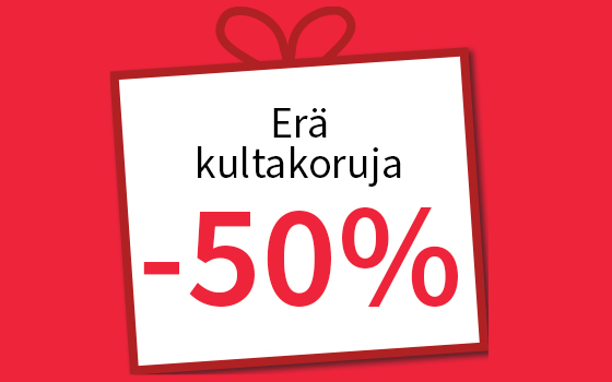 Erä kultakoruja -50 %! Tutustu ja osta >>