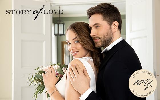 Story of Love timanttisormuksille myännämme 10 vuoden takuun! Tutustu ja Osta! >>
