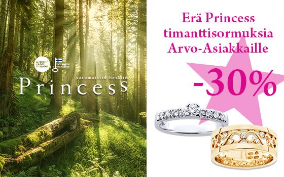 Erä Princess sormuksia -30 %! Tutustu ja osta! >>