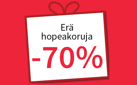 Erä hopeakoruja -70 %! Tutustu ja osta >>