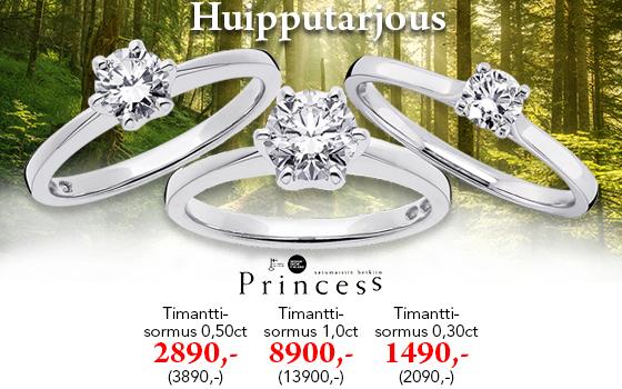 Kaikki Princess timanttisormukset vähintään -20%! Tutustu ja osta! >>