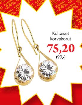 Kultaiset zirkoniakorvakorut -24 % koodilla VERO24, osta tästä >