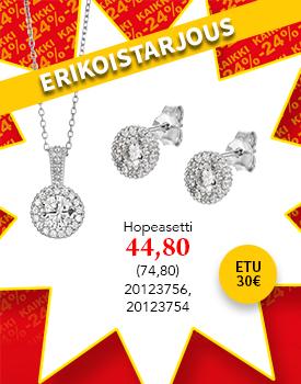 Kaunis hopeasetti tarjoushintaan! Säästä 30€! Tutustu ja osta! >>