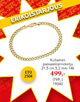 Tyylikäs kultainen ranneketju tarjoushintaan! Etu 250€! Tutustu ja osta! >>
