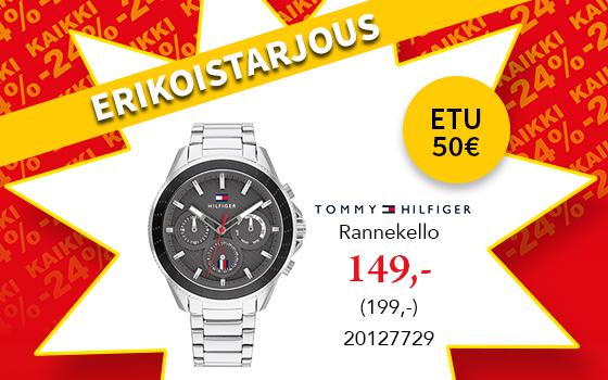 Tyylikäs Tommy Hilfiger rannekello nyt 149€! Tutustu ja osta! >>