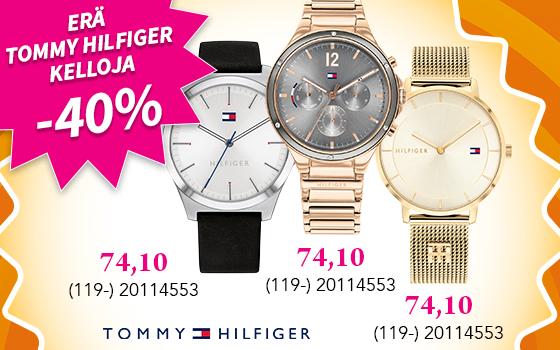 Erä Tommy Hilfiger kelloja jopa -40%! Tutustu ja osta! >>