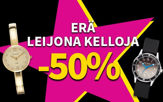 Erä Leijona kelloja -50 %! Tutustu ja osta! >>
