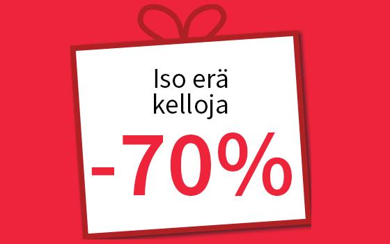 Iso erä kelloja -70 %! Tutustu ja osta >>
