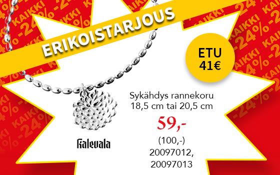 Kalevala Sykähdys rannekoru tarjoushintaan! Etu 41€! Tutustu ja osta! >>