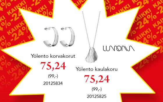 Kaikki Lumoava korut -24% koodilla VERO24! Tutustu ja osta! >>