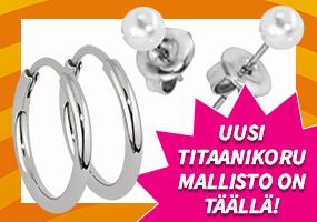 Uusi kysytty titaanikoru mallisto on täällä! Tutustu ja osta >>