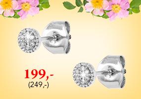 Valkokultaiset timanttikorvakorut tarjoushintaan 199,-! Tutustu ja osta >>