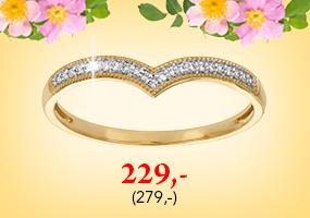 Upea V-mallinen timanttisormus vain 229,-! Tutustu ja osta >>