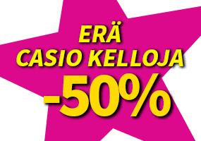 Erä Casio kelloja -50 %! Tutustu ja osta! >>