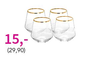Juomalasit kullanvärisellä reunuksella nyt vain 15,- (29,90)! Tutustu ja osta >>