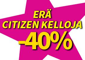 Erä Citizen kelloja -40 %! Tutustu ja osta!