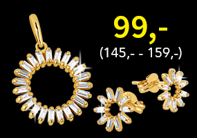 Upeat kultaiset korvakorut tai riipus nyt tasahintaan 99,-! Tutustu ja osta! >>