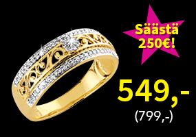Timanttisormus 0,20ct nyt vain 549,- (799,-)! Osta ja säästä 250 €! >>