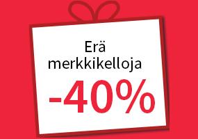 Erä kelloja -40 %! Tutustu ja osta >>
