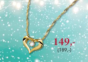 Huippusuosittu kultaisen sydänkaulakoru nyt 149,- (189,-), osta tästä >