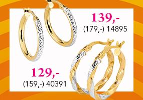 Tyylikkäitä kultakorvakoruja löytöhintaan! Tutustu ja osta >>